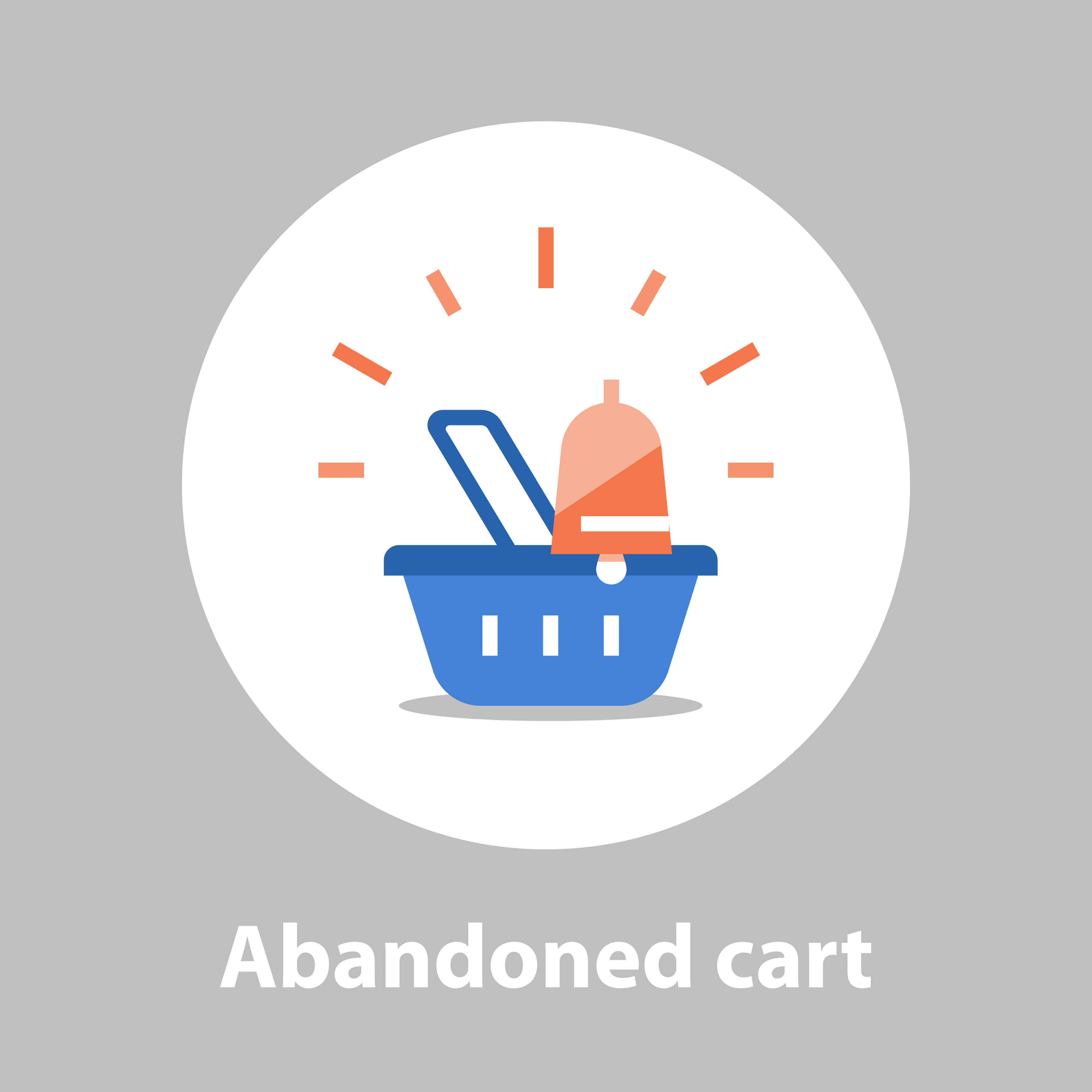 One method of retargeting where an abandoned cart notification is sent to the customer