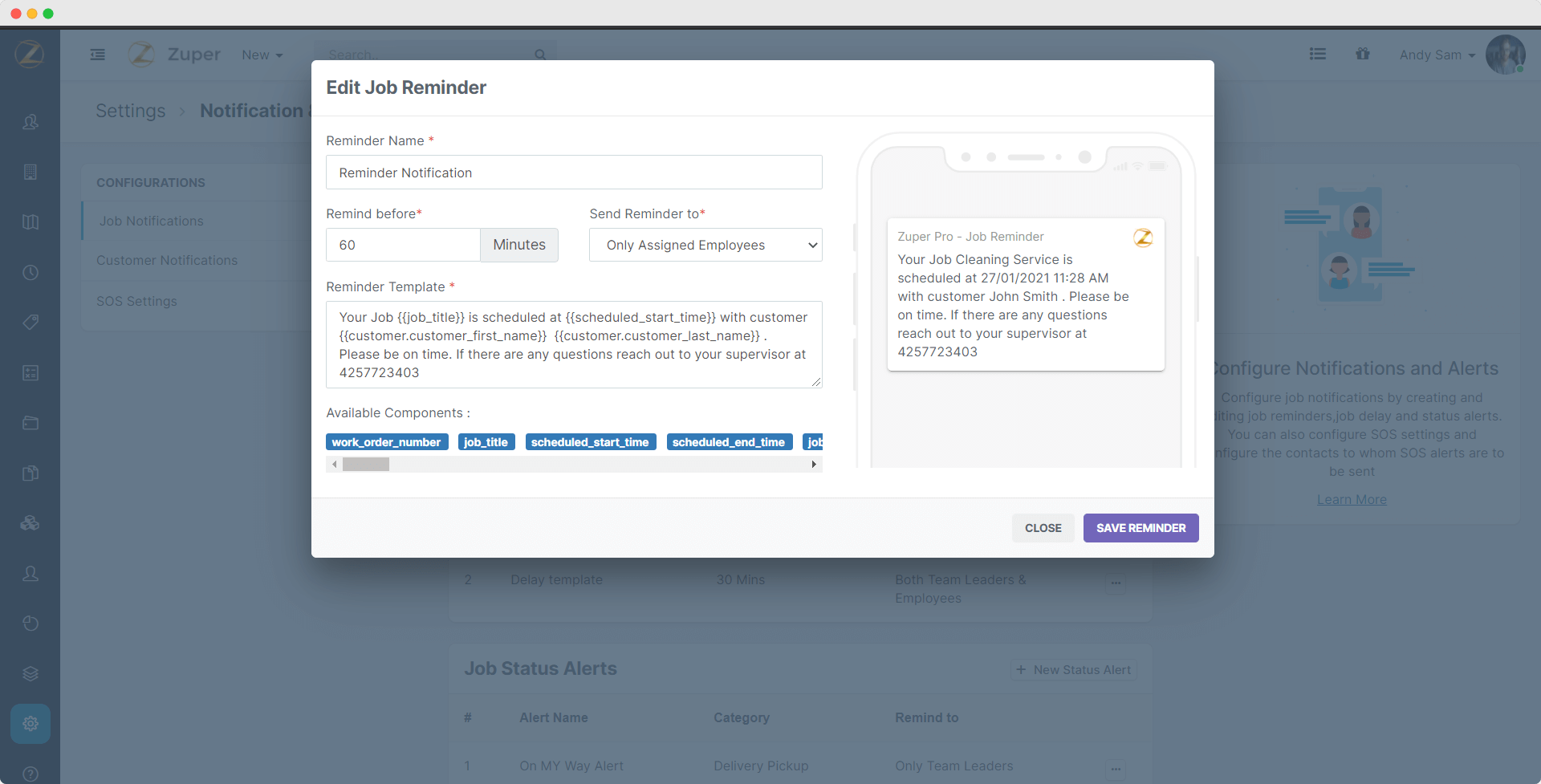 Automated notifications & alerts