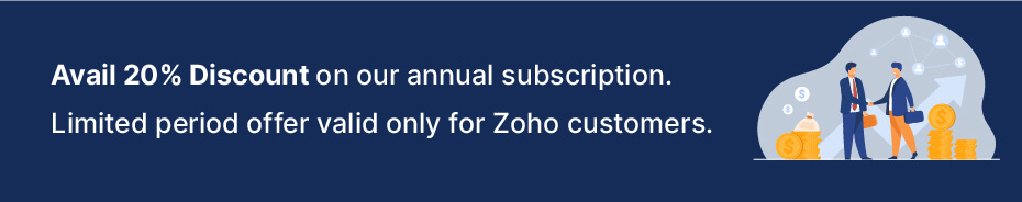 Avail 20% discount on Zuper's annual subscription
