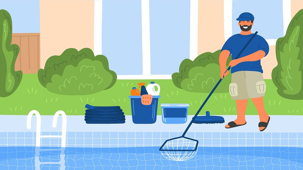 pool cleaning man